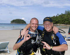 PADI IDC - Happy PADI IDC Instructor Candidates at Kata Beach Phuket Thailand